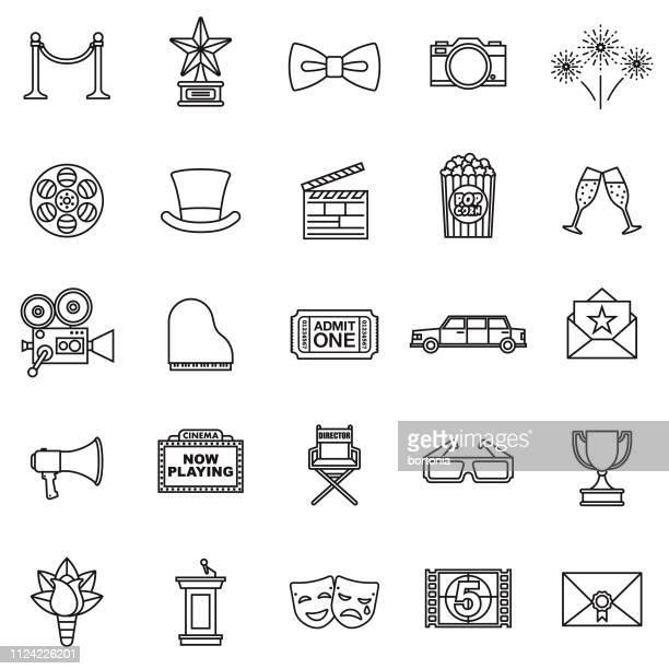 Film plat Design Icon Set