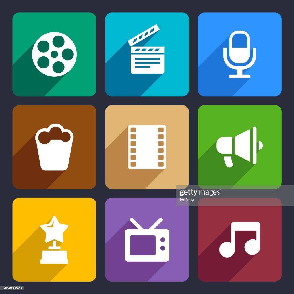 Movie Flat Icons Set 37