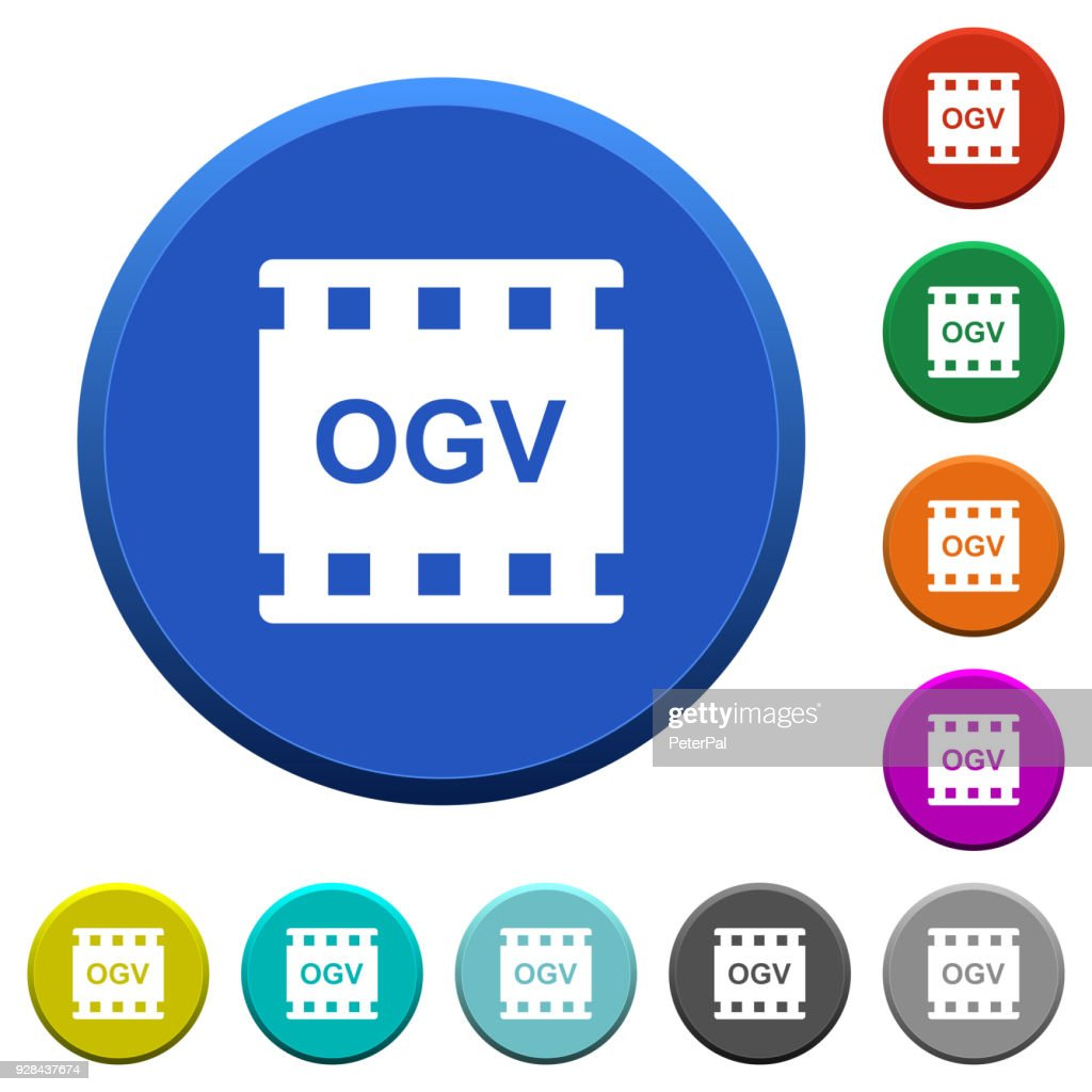 OGV movie format beveled buttons
