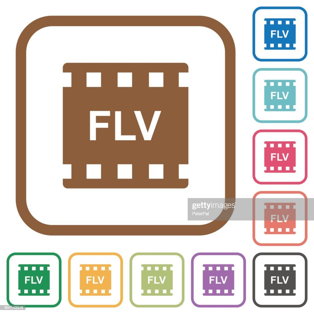 FLV movie format simple icons