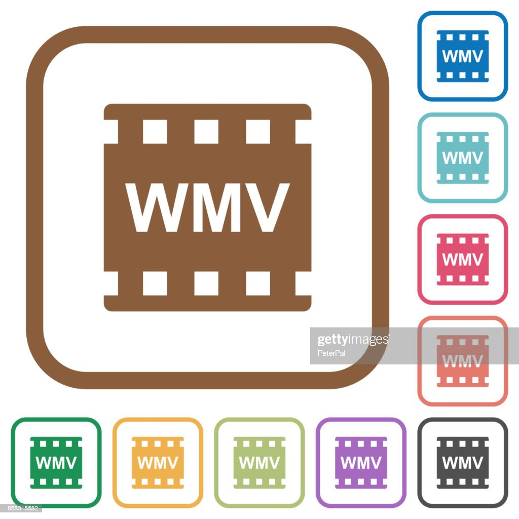 WMV movie format simple icons