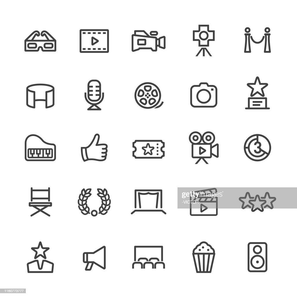 Movie Icons - Smart Line Series : stock illustration