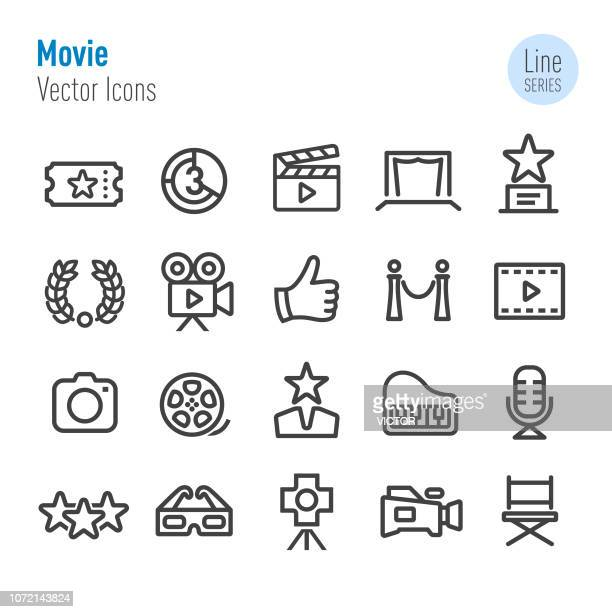 Movie Icons - Vector Line Series