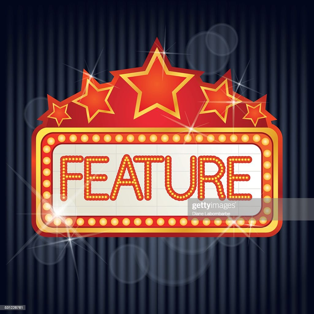 Movie Marquee Frame Vector Art | Getty Images