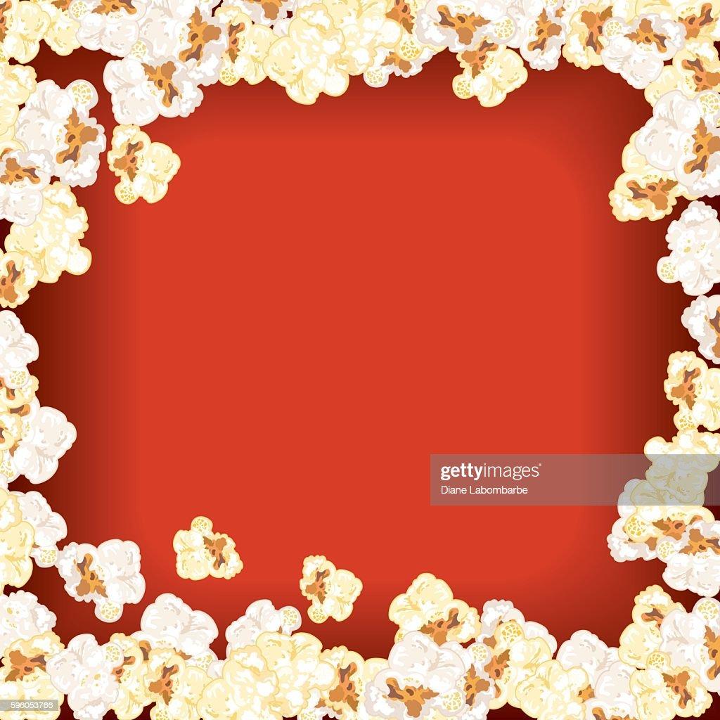Movie Night Background Popcorn Border stock vector - Getty ...  |Movie Night Page Background