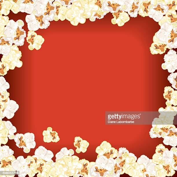 Movie Night Background Popcorn Border