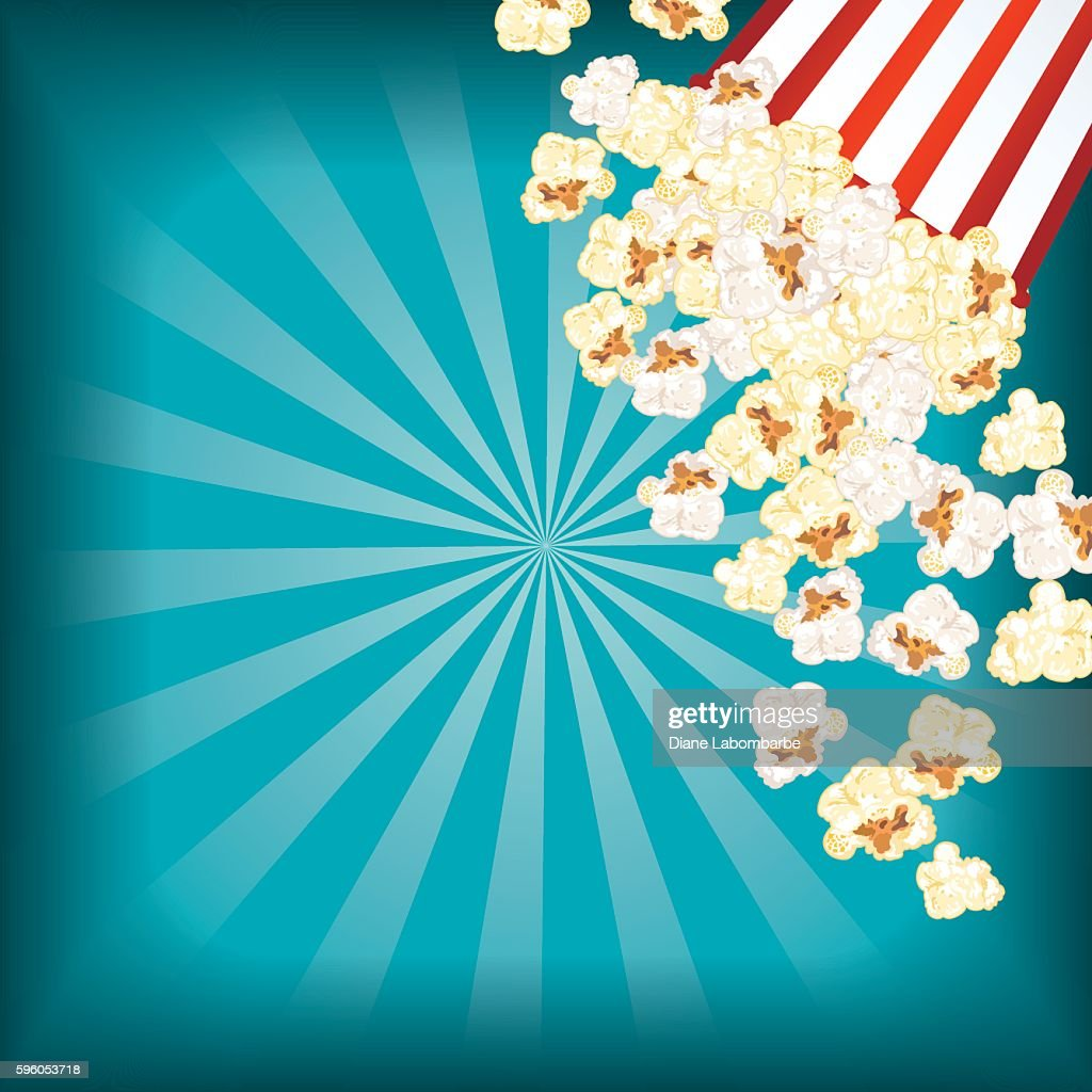 Popcorn with film elements vector background 02 | Night ...  |Movie Night Page Background