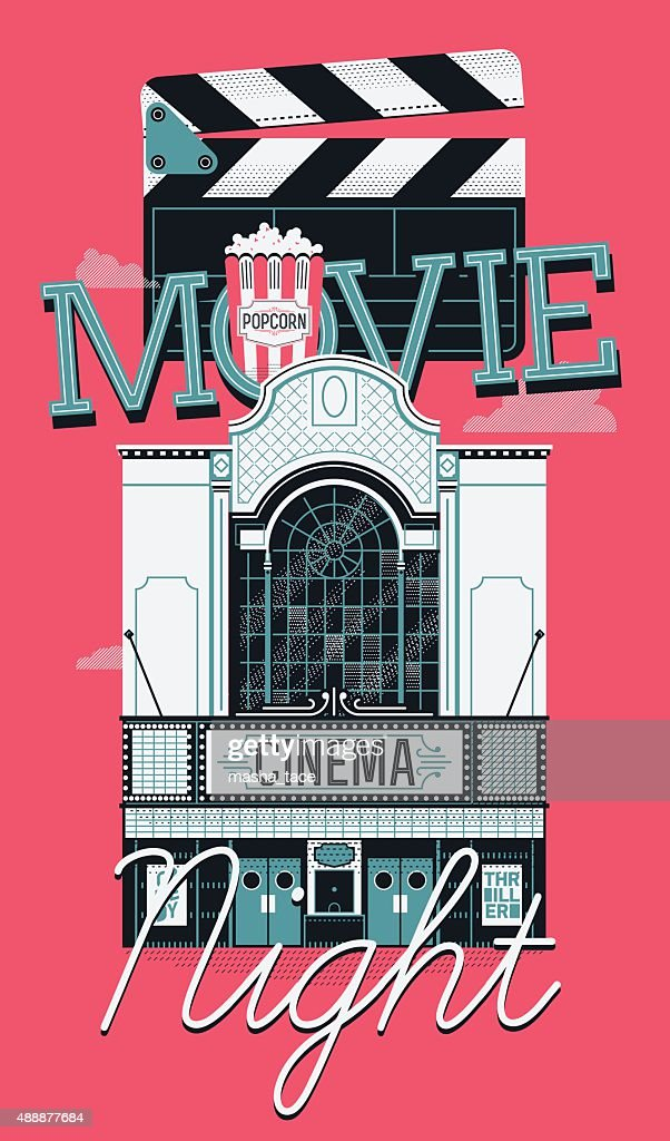 Movie Night event banner or flyer template