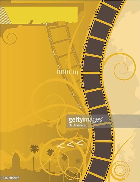 ilustraciones, imágenes clip art, dibujos animados e iconos de stock de filmstrip póster de película - glamour