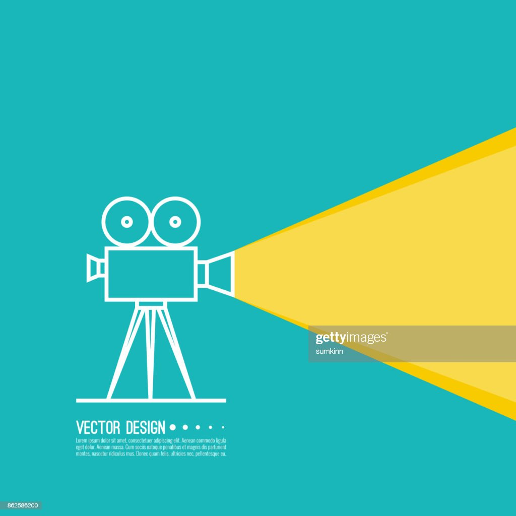 Movie projector vector illustration.
