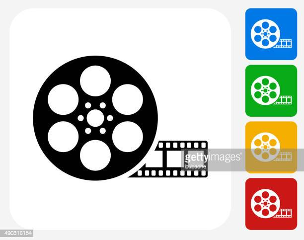 Movie Reel Icon Flat Graphic Design