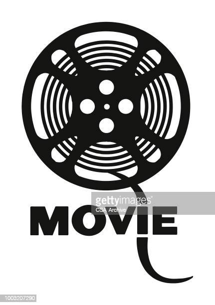 movie reel - film industry stock illustrations