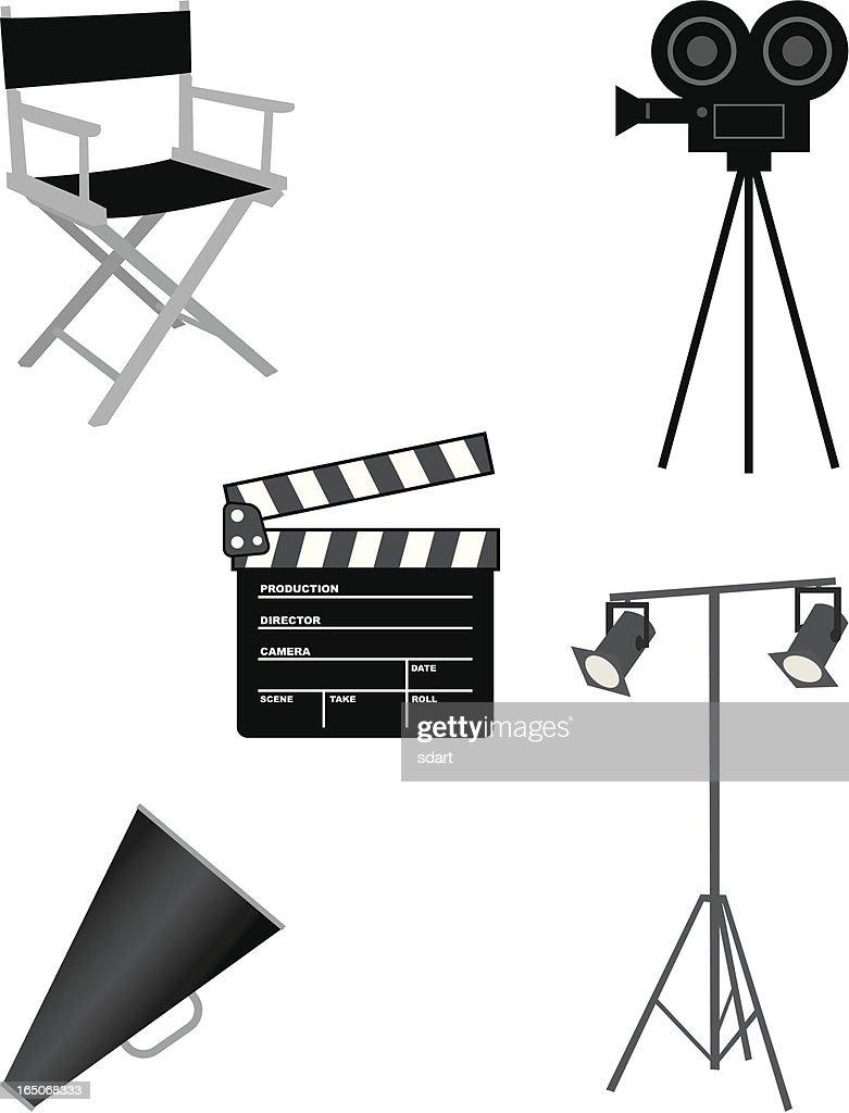 Movie Set : stock illustration