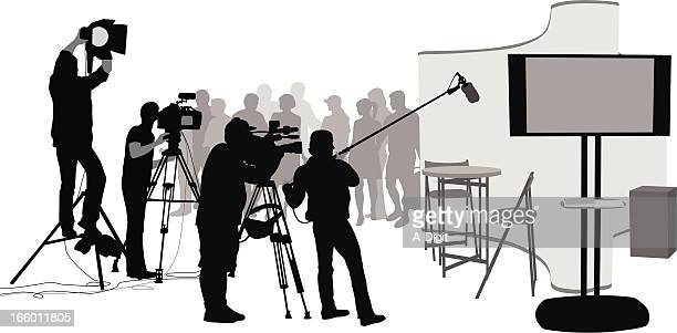 movie set - stage set stock illustrations