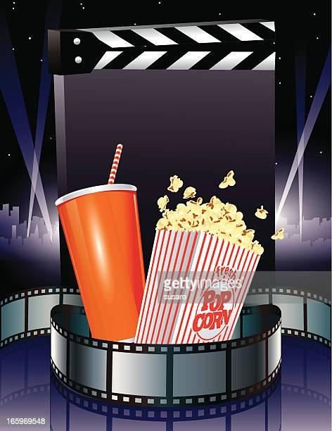 Movie Slate with Popcorn and Soda