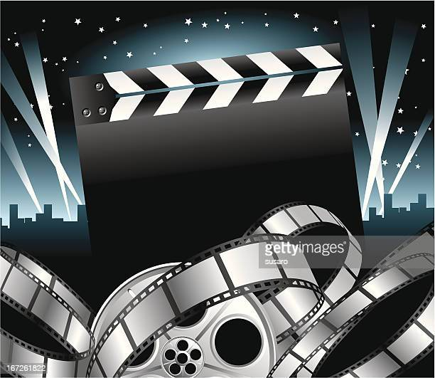 movie stars - movie theater stock illustrations
