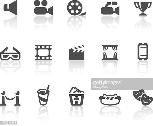 movie theater icons | simple black series - actor stock illustrations, clip art, cartoons, & icons