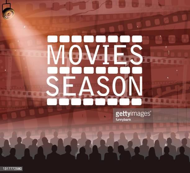 movie theater season - glühend stock illustrations