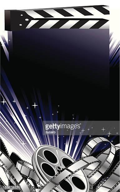 movie theme background - film studio stock illustrations