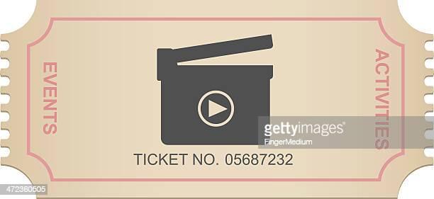 ilustraciones, imágenes clip art, dibujos animados e iconos de stock de entrada de cine - entrada de cine