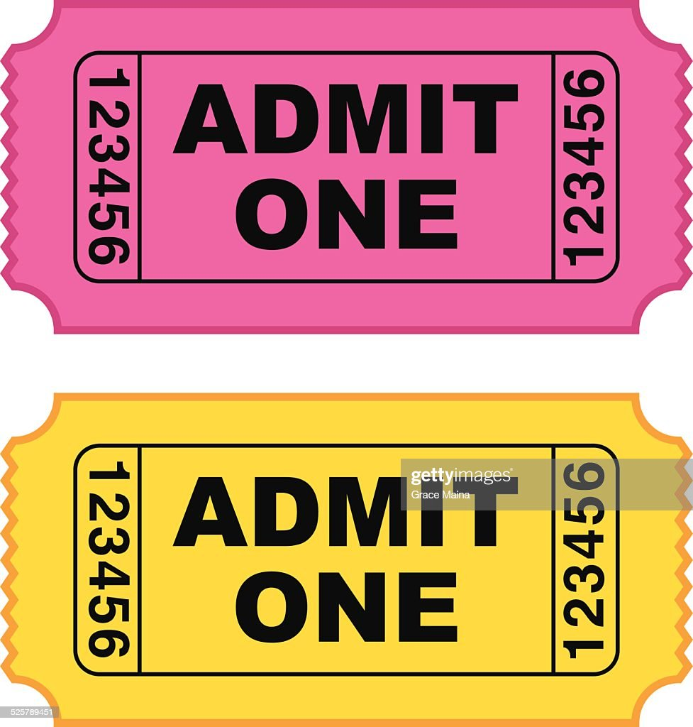 Movie ticket - VECTOR