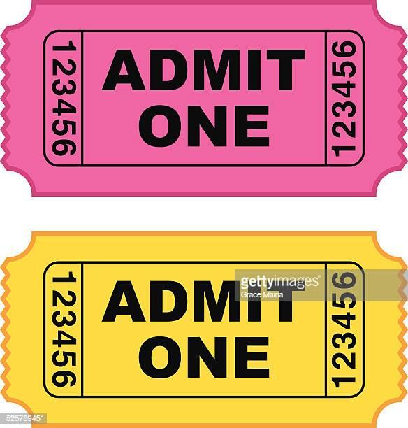 movie ticket - vector - ticket stock illustrations, clip art, cartoons, & icons