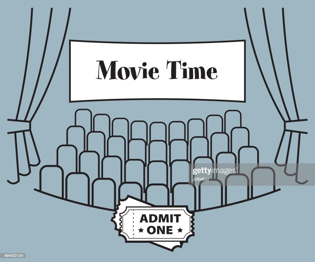 Movie Time Theater : stock illustration