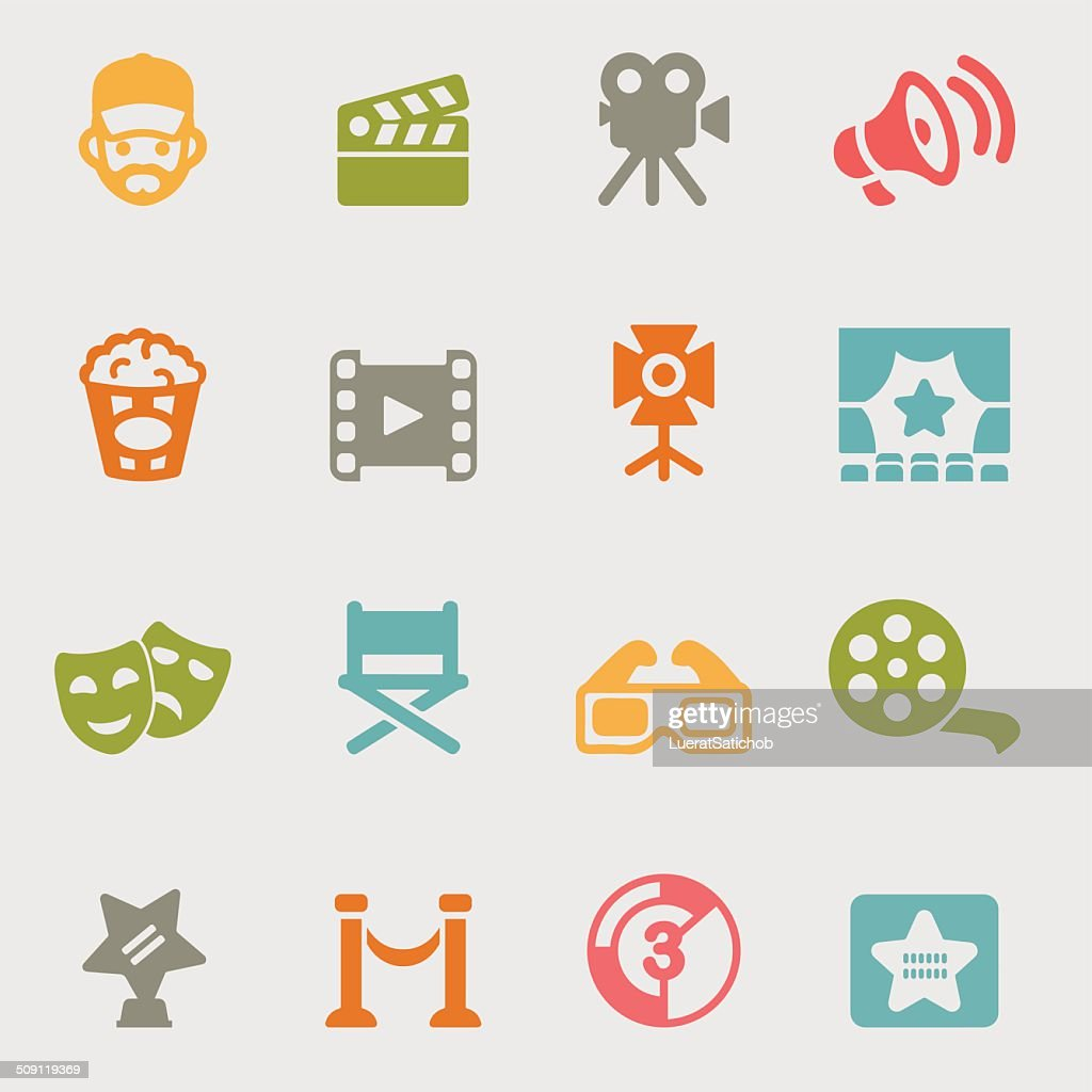 Movie variety color icons | EPS10