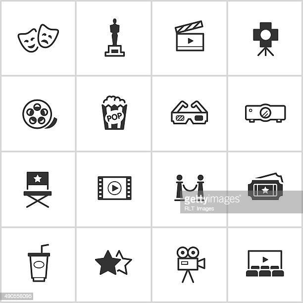 Movies & Cinema Icons — Inky Series