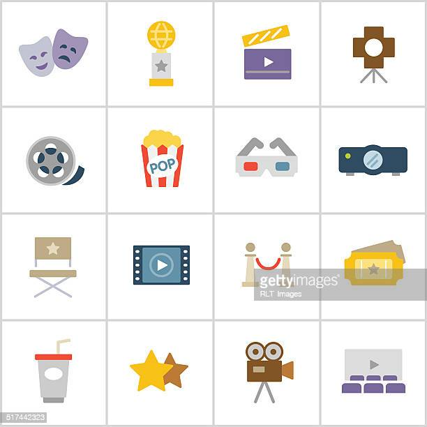 movies & cinema icons — poly series - celebrities stock illustrations, clip art, cartoons, & icons