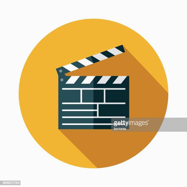 Movies Flat Design Arts Icon with Side Shadow