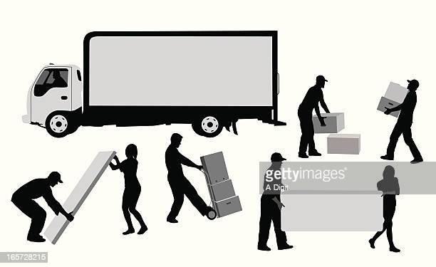 Moving Away Vector Silhouette
