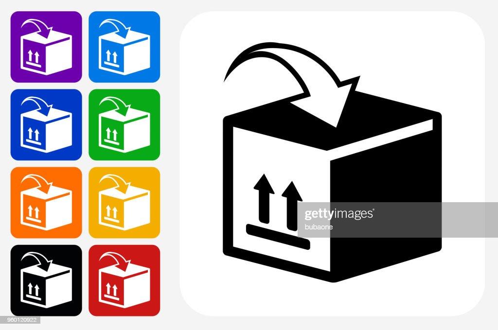 Verschieben von Kisten Symbol Quadrat-Taste festlegen : Stock-Illustration