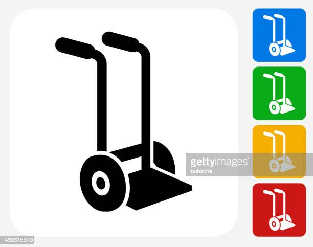 moving carriage icon flat graphic design - hand truck stock illustrations, clip art, cartoons, & icons