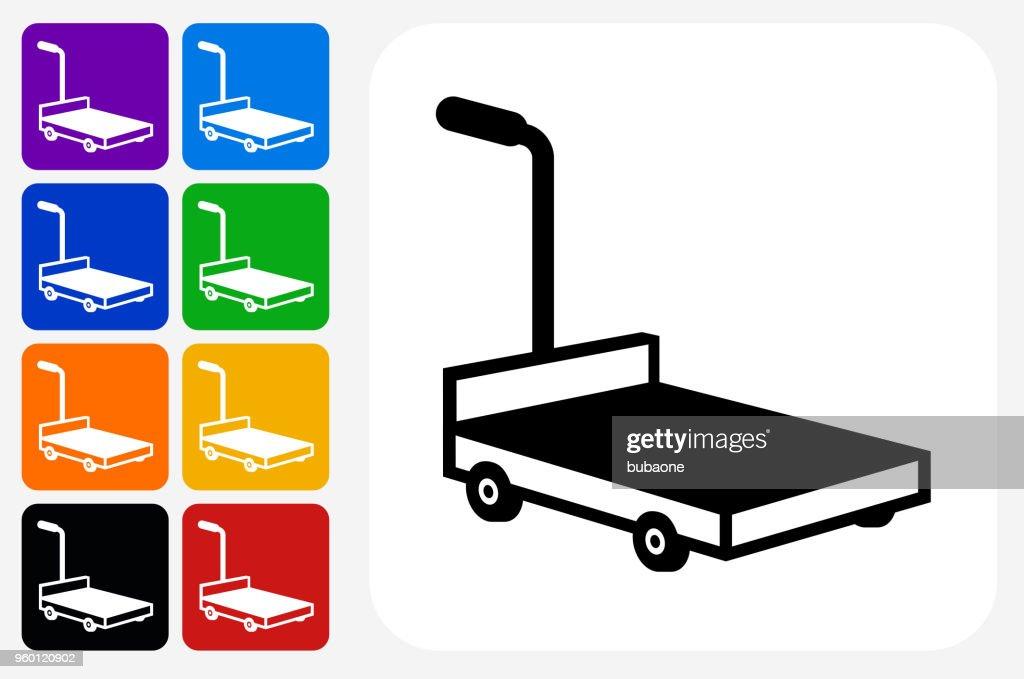 Beweglichen Schlitten Symbol Quadrat-Taste festlegen : Stock-Illustration