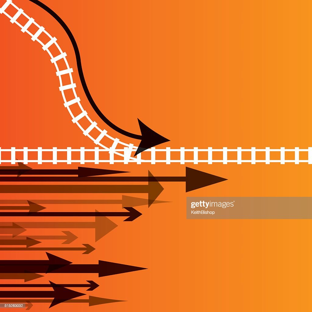 Moving Forward - Arrow Direction Background : stock illustration
