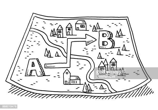 Bewegung von A nach B Zeichnung zuordnen