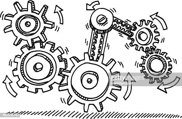 Moving Gears Direction Drawing
