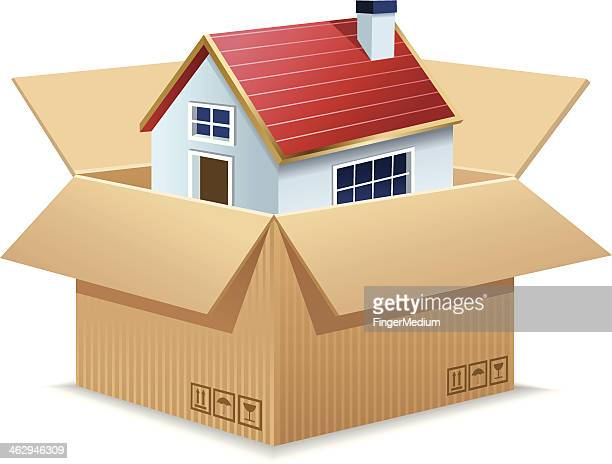 moving house - new home stock illustrations, clip art, cartoons, & icons