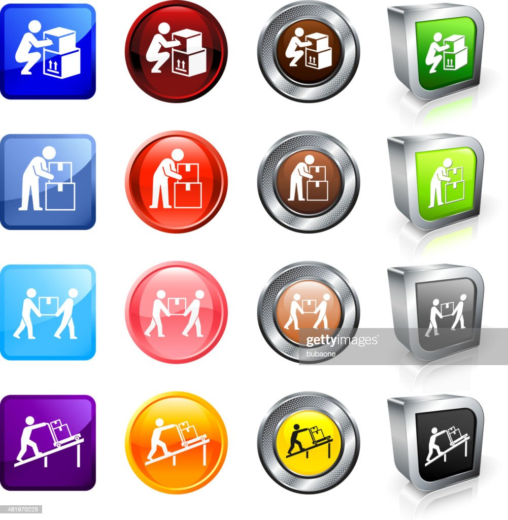 Moving to New Home royalty free vector button set