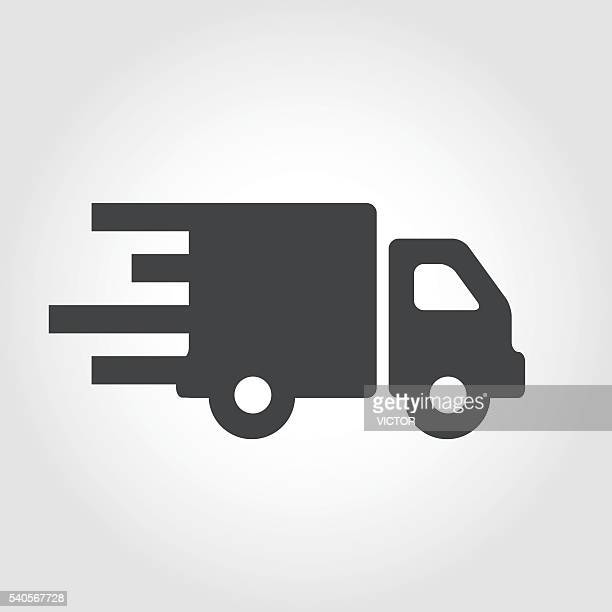 moving truck icon - iconic series - new home stock illustrations, clip art, cartoons, & icons