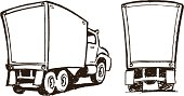 Moving Trucks - Cartoon Style