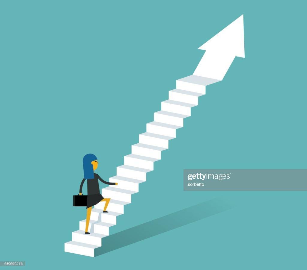 Moving Up - Businessman : stock illustration