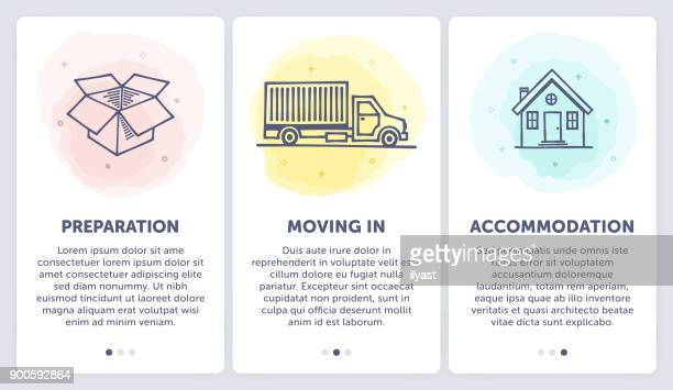 moving - relocation stock illustrations