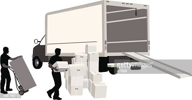 Moving Vector Silhouette