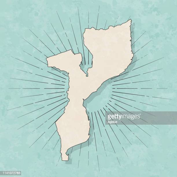 mozambique map in retro vintage style - old textured paper - mozambique stock illustrations, clip art, cartoons, & icons