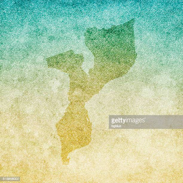 mozambique map on grunge canvas background - mozambique stock illustrations, clip art, cartoons, & icons