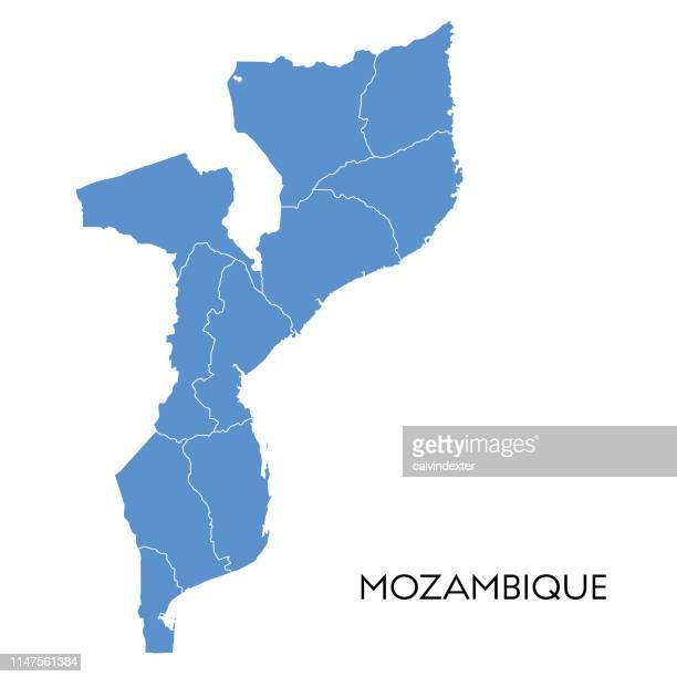 mozambique map - mozambique stock illustrations, clip art, cartoons, & icons