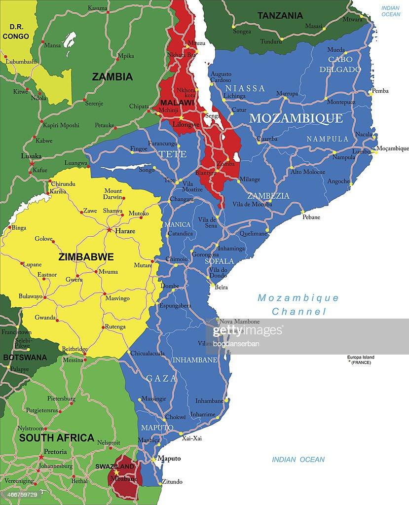 Mosambik Karte.Mosambik Karte Vektorgrafik Getty Images