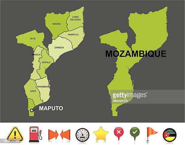 mozambique navigation map - mozambique stock illustrations, clip art, cartoons, & icons